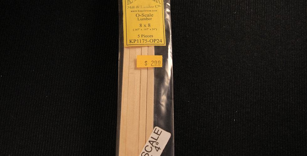 "8""x8"" O Scale Lumber - KP1175-OP24"
