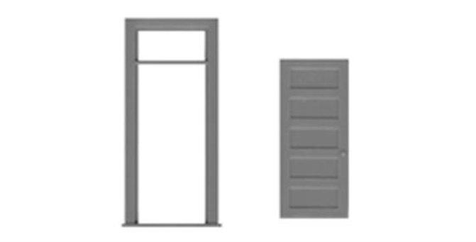 """5 Panel Door/Frame 36""""x106"""" - 8196"""
