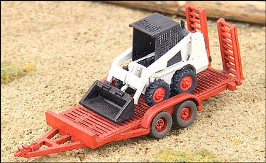 N Scale Utility Trailer & Bobcat-53007