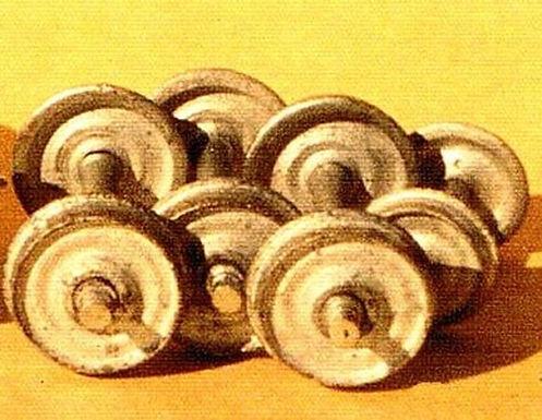 Narrow Gauge Wheels HOn3 (6 sets/axles) - 9103