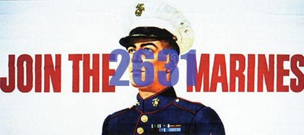 Billboard Join the Marines 1950's - 2631