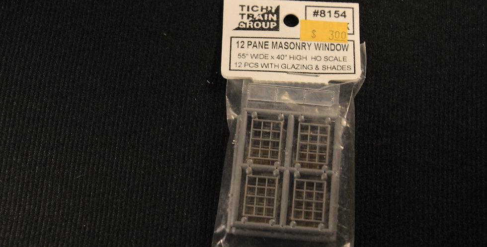 "12 Pane Masonry Window 55""x40""-8154"