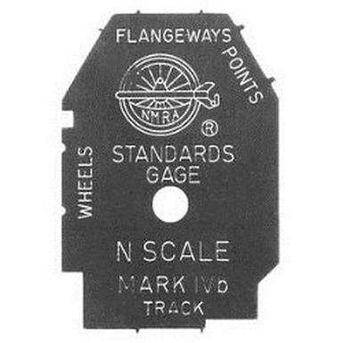 NMRA N Scale Standards Gauge Mark IV (with RP-25 Contour) - 98-1