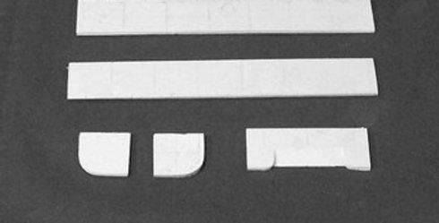 """Sidewalk Outside Corner 7/8"""" Sq. (2/pkg) - HO-105"""