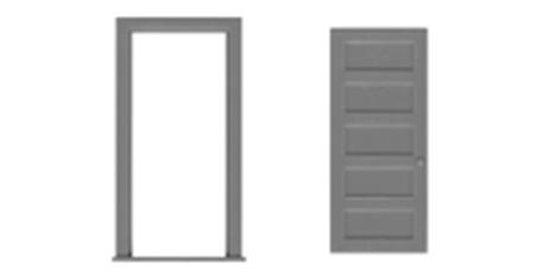 """5 Panel Door/Frame 36""""x80""""-8197"""