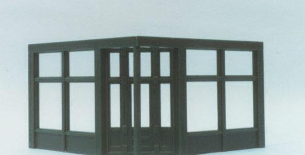 20' Corner Store Front Door and Windows - 0003