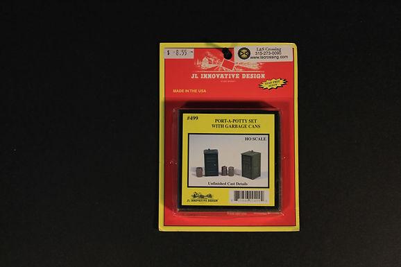 Port-a-Potty Set(2) Garbage Cans(3)-JL Innovative 499