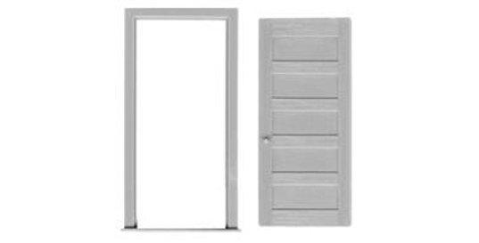 """5 Panel Door & Frame 36""""x84"""" - 2040"""