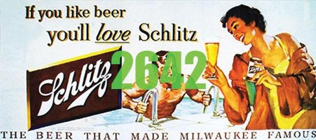 Billboard Schlitz Beer 1950's - 2642