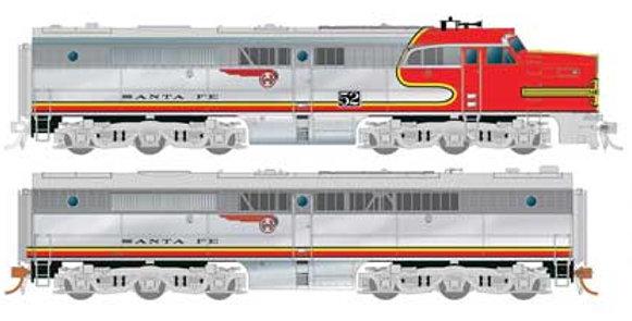 Alco PA1 - PB1 Set - Standard DC -- Santa Fe 59L, 59A (Warbonnet, silver