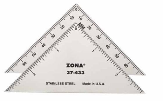 3″ Triangle Ruler -  37-433