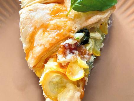 Blätterteigquiche mit Zucchini