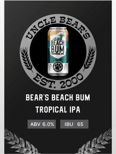 BEAR'S BEACH BUM TROPICAL IPA