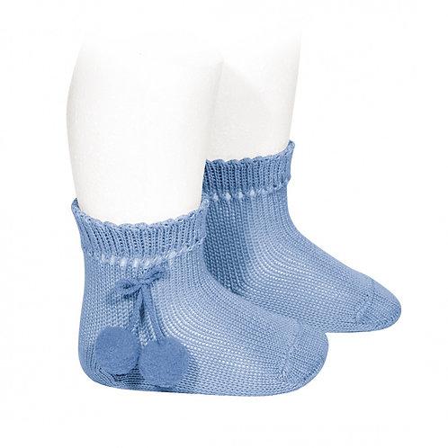 Calcetines Cortos Perlé Borlas