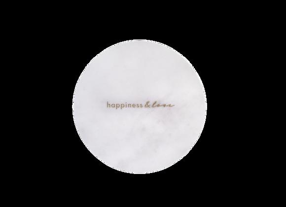 Happiness & Love Yazılı Tabak