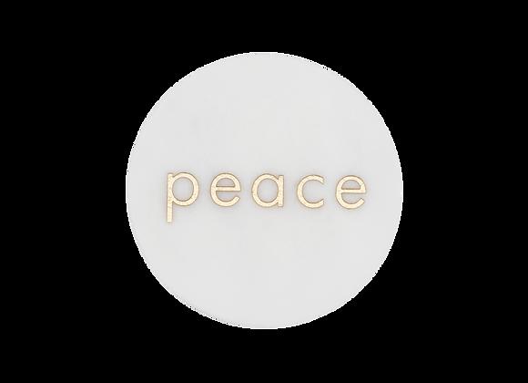 Peace Yazılı Bardak Altlığı