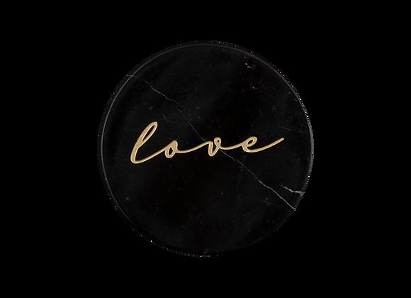 Love Yazılı Bardak Altlığı