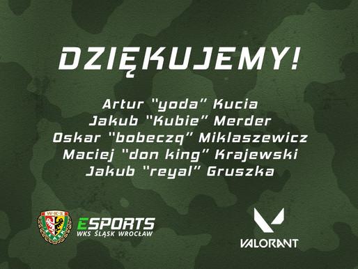 Dziękujemy przedstawicielom dywizji Valorant.
