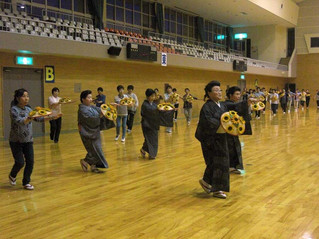 ふるさと踊りの合同練習です