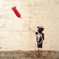 Syria inspired #Banksy #girlwiththeballo