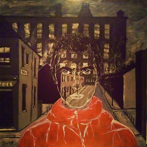 Liam with LS Lowry background