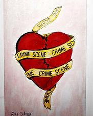 CRIME SCENE quick tattoo style acrylic o