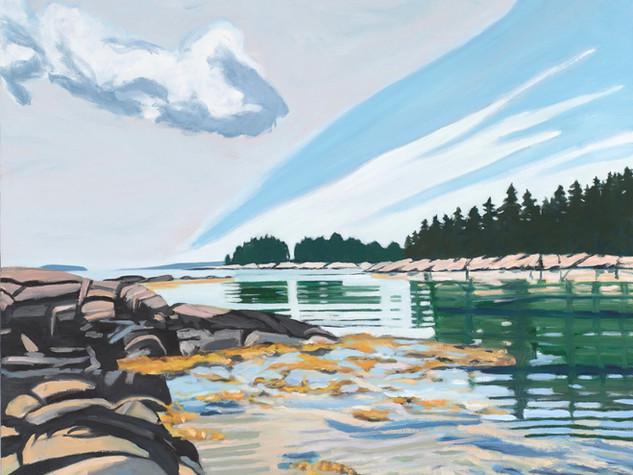 Lagoon 22x28 oil on canvas