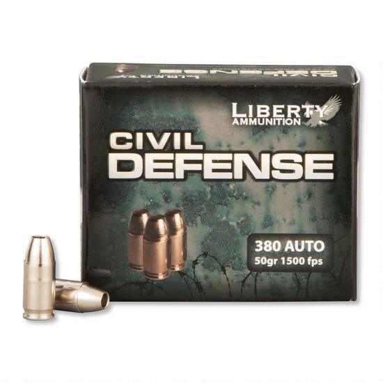 LIBERTY CIVIL DEFENSE 380 AUTO 50 GRAINS