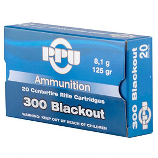PPU 300 AAC BLACKOUT 125 GRAINS FMJ
