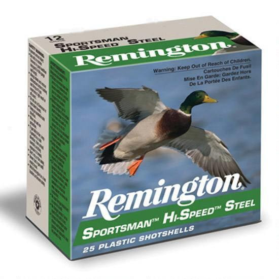 "REMINGTON 12 GA 3"" 1-1/8 OZ #4 STEEL SHOT"