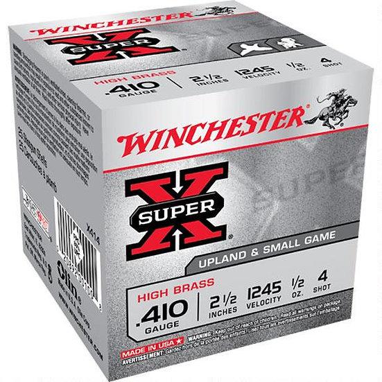 """WINCHESTER SUPER X .410 GA. 2-1/2"""" 1/2 OZ 4 SHOT"""