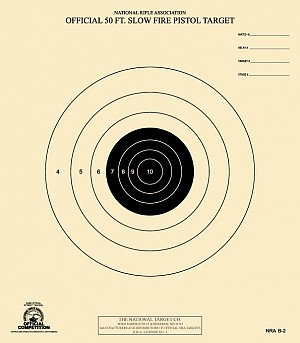 NRA 50 FT SLOW FIRE TARGET B-2