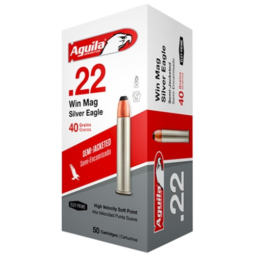 AGUILA 22 WIN MAG SILVER EAGLE 40 GR 50 ROUNDS