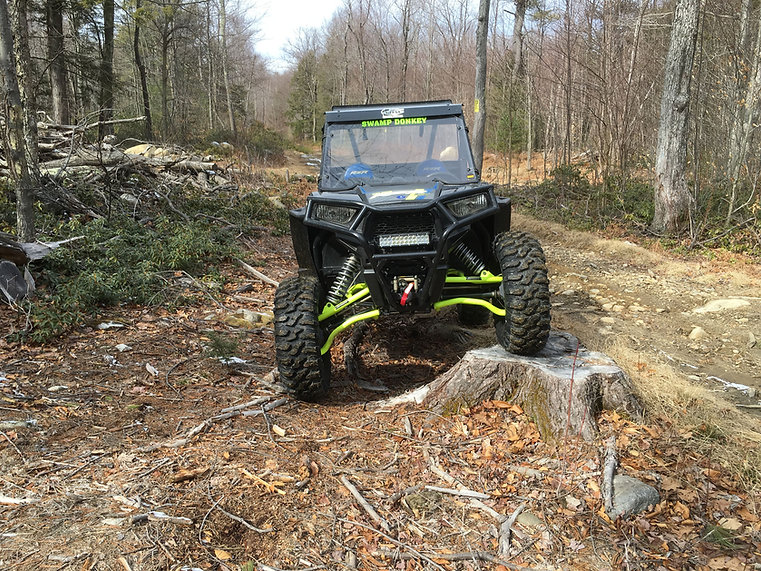 Polaris RZR900 on the trail