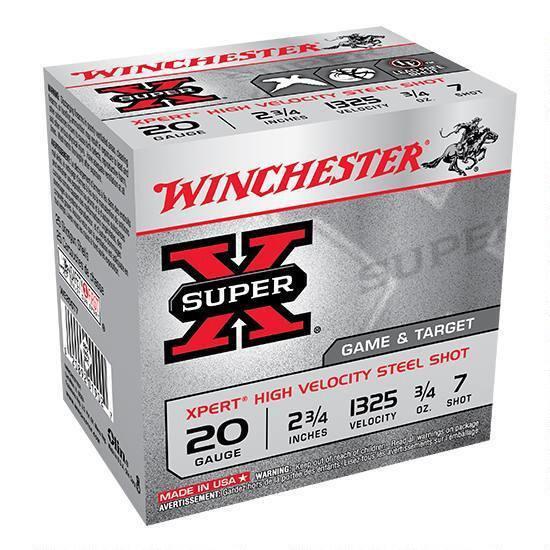 """WINCHESTER SUPER X 20 GA. 2-3/4"""" 3/4 OZ 7 SHOT"""