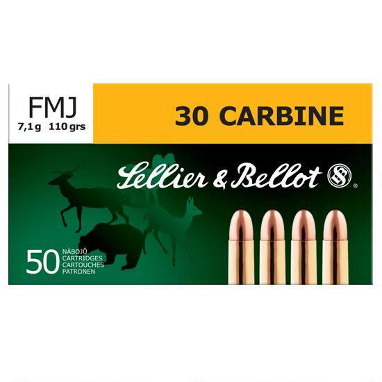 SELLIER & BELLOT 30 CARBINE 110 GRAINS FMJ