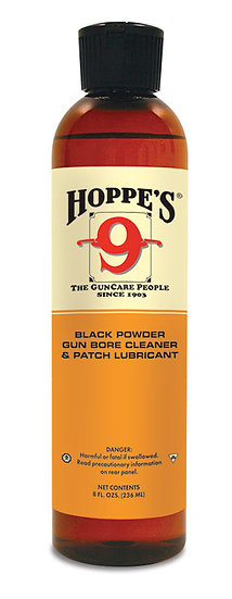 HOPPE'S NO. 9 BLACK POWDER GUN BORE CLEANER 8OZ