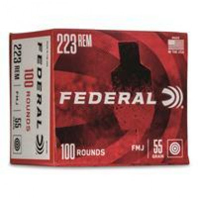 FEDERAL .223 55GR FMJ 100 ROUNDS