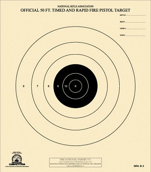 NRA 50 FT TIMED AND RAPID FIRE TARGET B-3