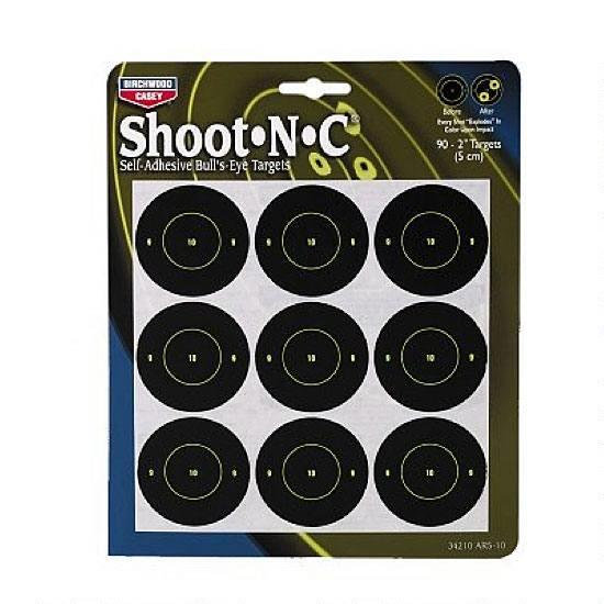 "SHOOT-N-C 2"" TARGETS 12 PACK"