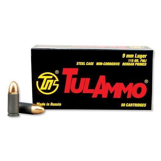 TULAMMO 9MM 115 GRAIN FMJ