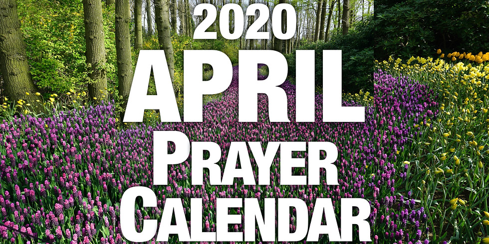 April Prayer Calendar