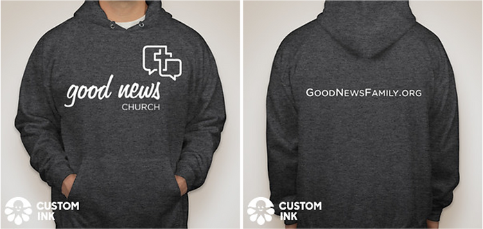 swag, hood, good news church, sweatshirt, order