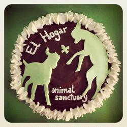 Tarta El Hogar Pro-vegan