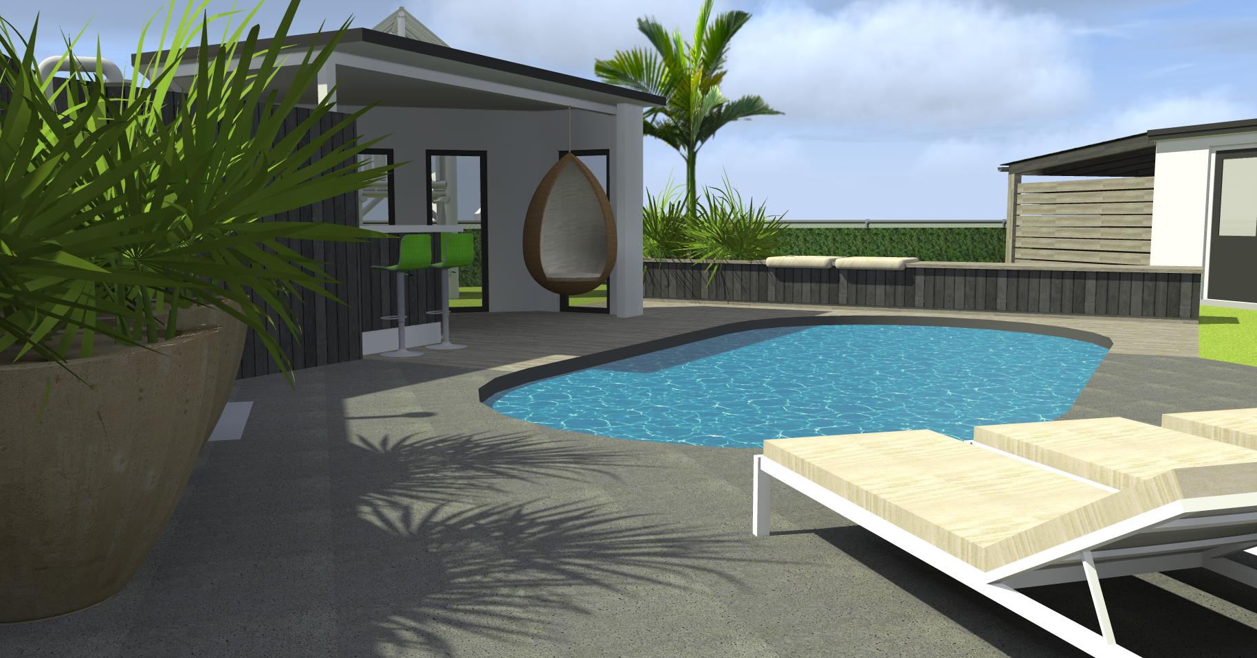 achtertuin met zwembad en buitenverblijf (4)