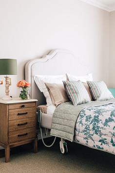 Crown bedhead & Hayman bedside table