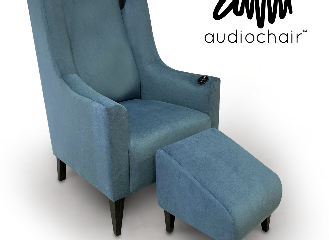 Audiochair with stool
