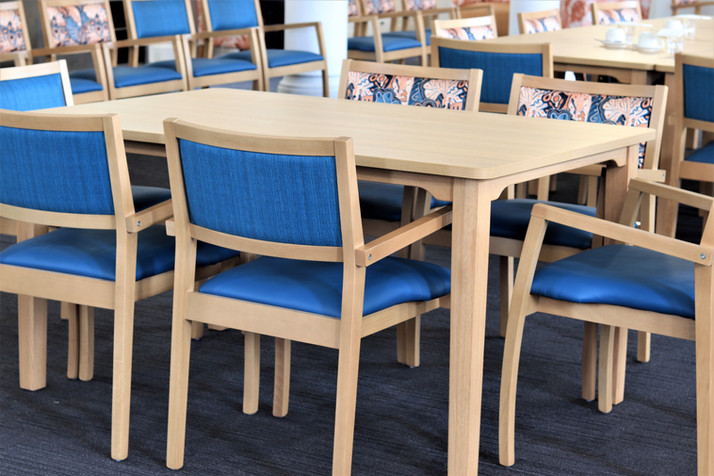 Gamma dining chairs & Carrington Table