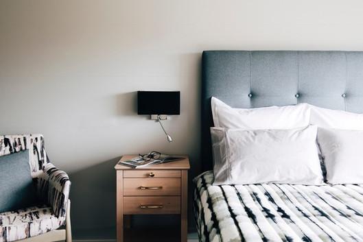 Prescott bedhead & Belle bedside table