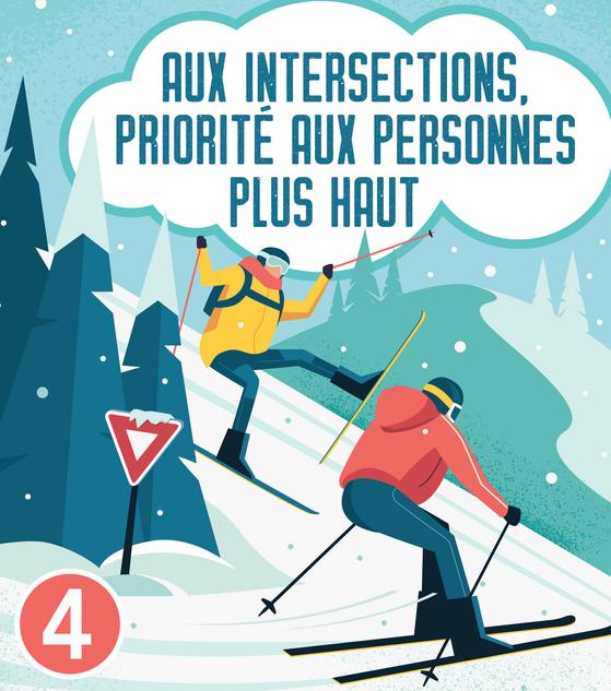4. Aux intersections, priorité aux personnes plus haut !